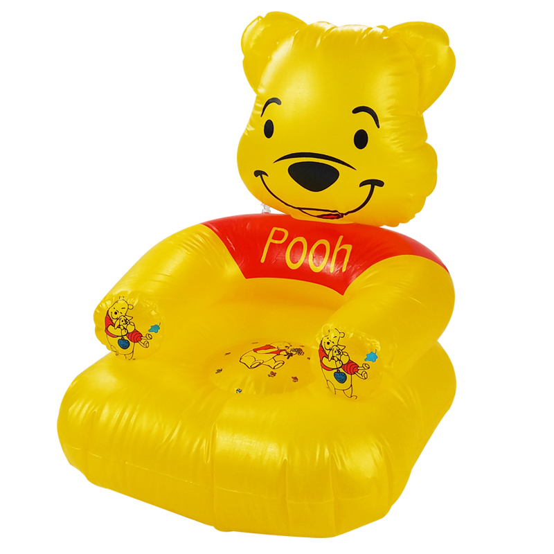 2 -6 Years Old Children Kids Lovely Portable Cartoon Bear Cute Toys PVC Inflatable Sofa Chair Seat