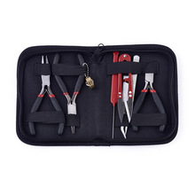 8PCs Mini Pliers Set, Long Nose with Teeth, Flat Jaw, Round Curve Needle Diagonal Wire End Cutting Cutter Linesman Plier