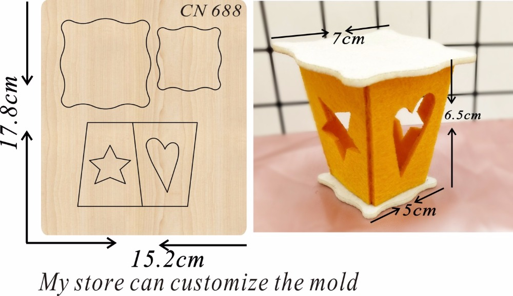 Small lantern party supplies new wooden mould cutting dies for scrapbooking Thickness 15 8mm