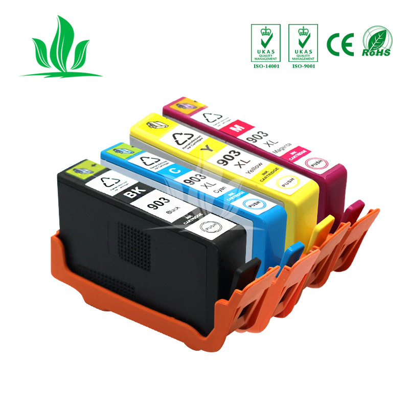 4pcs 903XL Compatible for HP 903 HP903 HP903xl Ink Cartridge OfficeJet 6950 6960 6970 6975 Printer