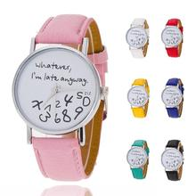 1pc Ladies Watch Clock Newly Design Numbers Math Calculation Printed Students Watches Casual Quartz Wristwatch Relogio