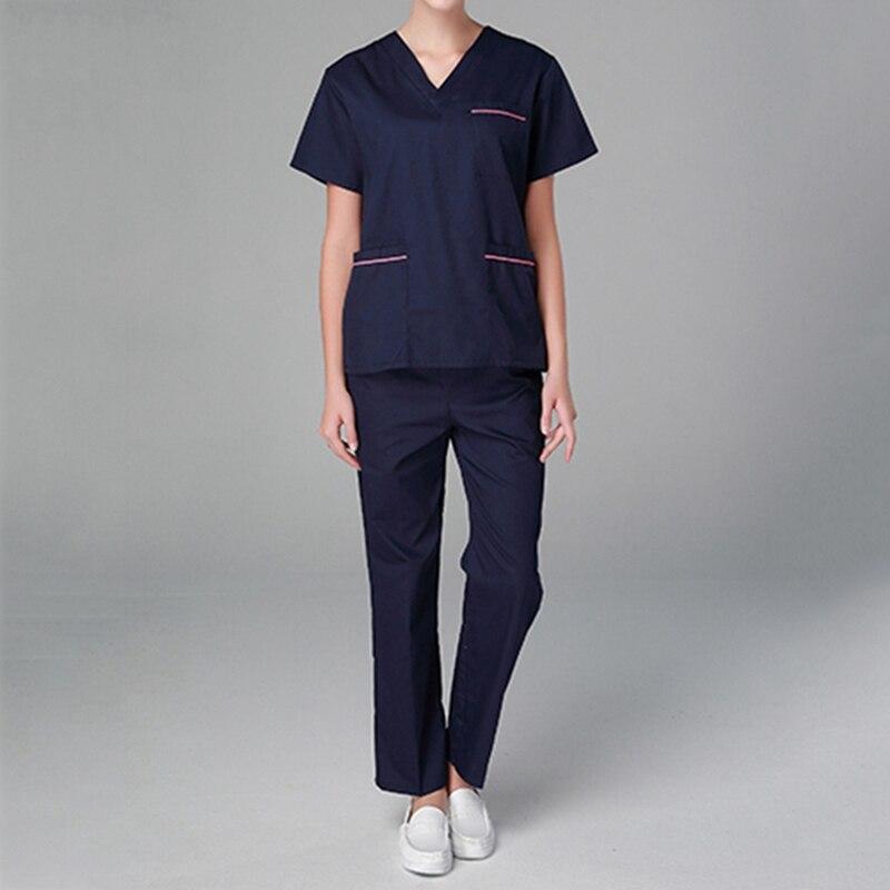 Hot Selling Summer Medical Scrubs Women Nurse Uniform Medical Clothing Beauty Salon Uniform Men Uniforms for Nurses