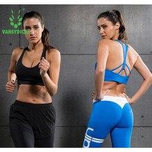 Anyfashion Hot Sports Bra Women  Fitness Top Shake proof Padded Yoga Bra Workout Gym Bra Top Wire Free Push Up Running TOP Yoga