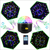 10W DJ Disco Ball 6 Patterns Lumiere Magic Rotating Ball Sound Activated Laser RGB Stage Light Christmas KTV Music Party Lights