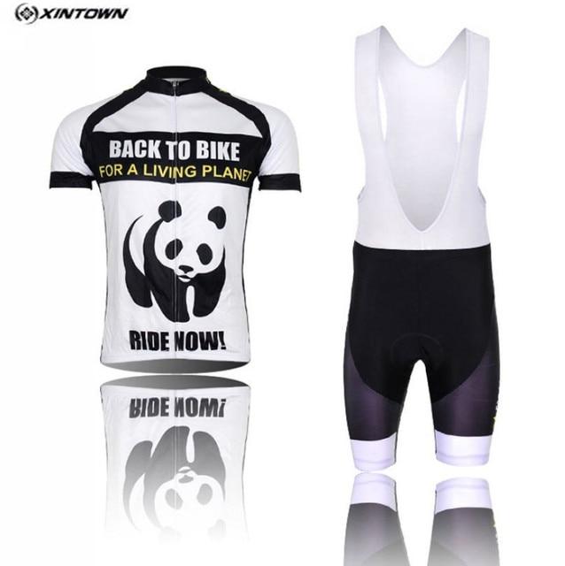 47494951a XINTOWN Cycling Jersey Bib shorts White Men Bike Clothing Panda Pro MTB  Bicycle Top Cycling Wear Shirts for summer