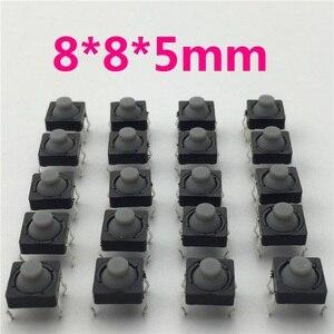 Image 1 - Interruptor de silicona conductivo sin sonido, botón pulsador Micro, reinicio automático, 8x8x5MM, 4 pines, G77, 20 unidades por lote