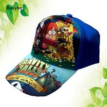 Children Gravity Falls read action baseball cap snapback hat kids print hip hop boys girls snapback cap sun hat