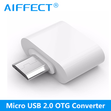 AIFFECT Android Micro USB OTG Adapter Converter For Samsung Xiaomi Huawei Smartphone Tablet MP3 MP4 PC
