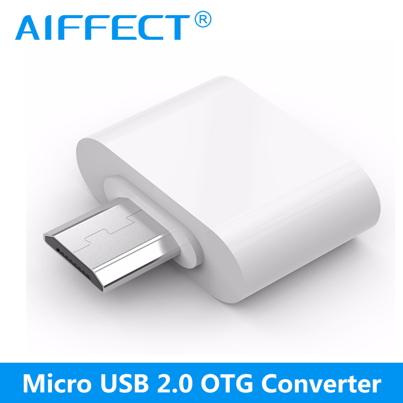 AIFFECT Micro USB to USB OTG Adapter OTG USB Cable Converter for Tablet Samsung HTC Xiaomi