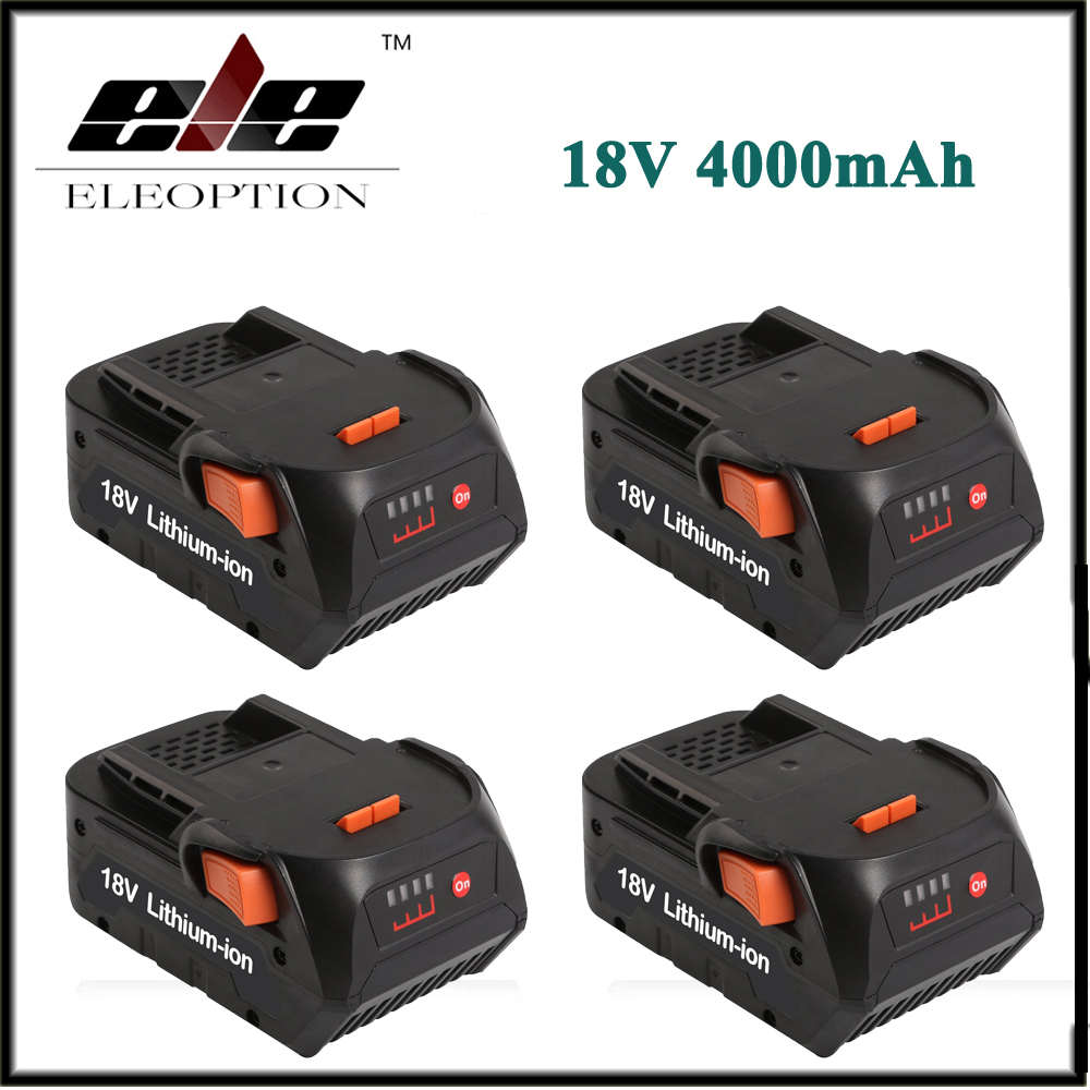4x New Eleoption 4000mAh 18V Li-ion Rechargeable Power Tool Battery for RIDGID R840083 R840085 R840086 R840087 Series AEG Series eleoption 2pcs 18v 3000mah li ion power tools battery for hitachi drill bcl1815 bcl1830 ebm1830 327730
