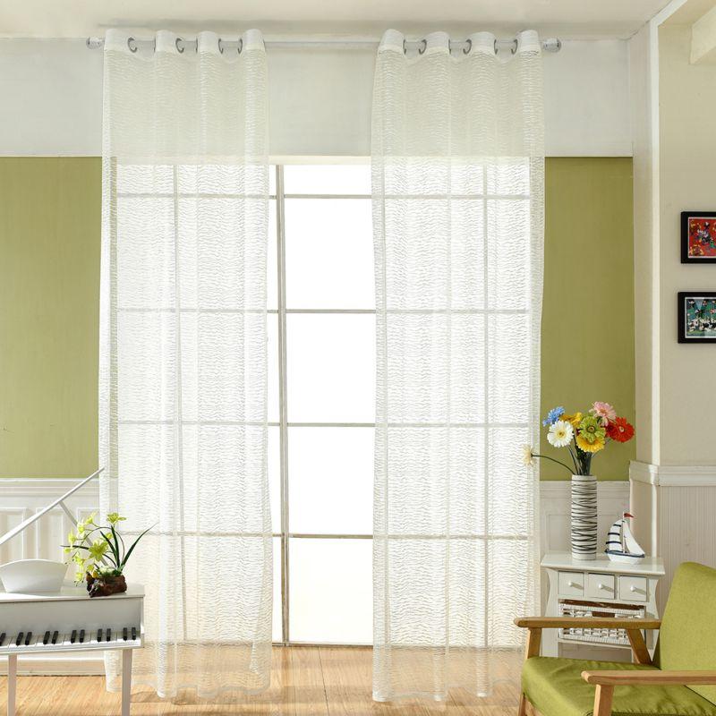 Neueste Weiss Tull Vorhange Boden Fenster Polyester Einfarbig String