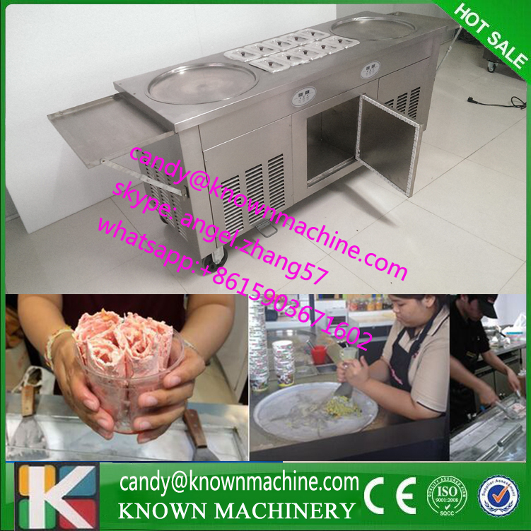 New arrival brand compressor Fry ice pan machine,fried ice cream roll machine,ice pan ice cream machine  цены