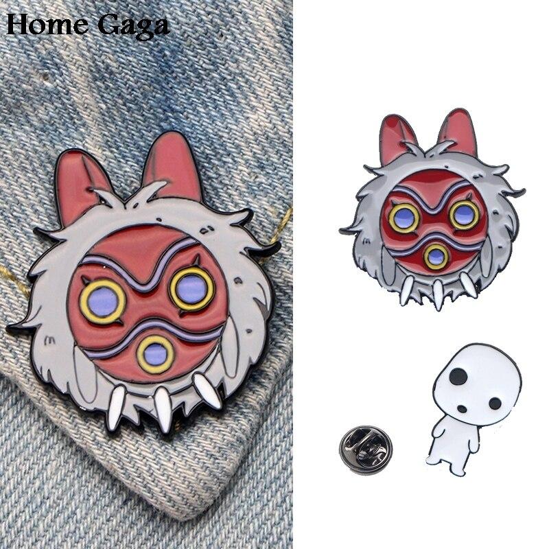 10pcs/lot Homegaga Princess Mononoke Zinc Tie Cartoon Funny Pins Backpack Clothes Brooches For Men Women Hat Badges Medal D1430 Badges