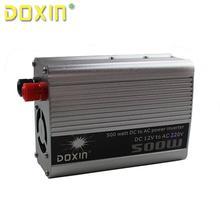 DC/AC 12 В До 220 В 500 Вт Auto Off Grid инвертор Автомобиля Инвертор Inversor Универсальный Разъем Автомобильное Зарядное Устройство DOXIN ST-N004