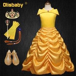 Verão meninas belle princesa aniversário fantasia vestido de festa de casamento vestido para a menina vestidos de bola crianças primeira comunhão roupas
