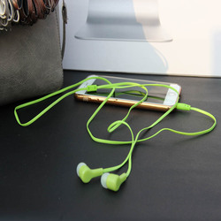 MP3/mp4 Roping 스테레오 서브 우퍼 이어폰 귀 헤드셋 이어 버드 1.1 메터 반사 섬유 천 라인 금속 이어폰 무료 배송