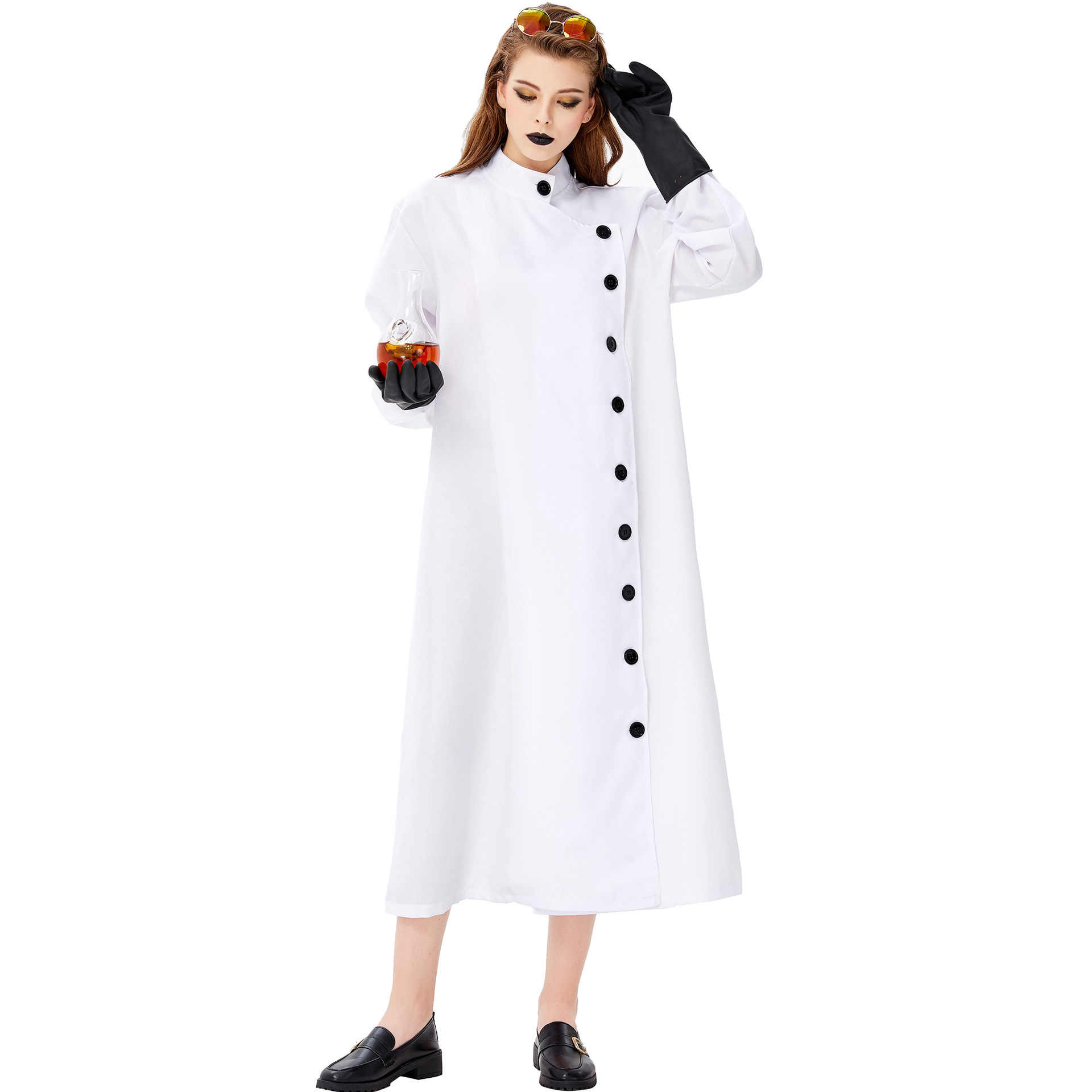 Для хеллоуина и карнавала костюм ниндзя spoof вечерние ролевые платья для косплея crazy mad scientian униформа для женщин готический костюм ужасного призрака
