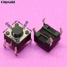 cltgxdd 1~500Pcs 6*6*5mm 4pin Mini Touch Switch Micro Momentary Tactile Push Button Switch G08 Drop ship 6*6*5 mm 4 pin(China)