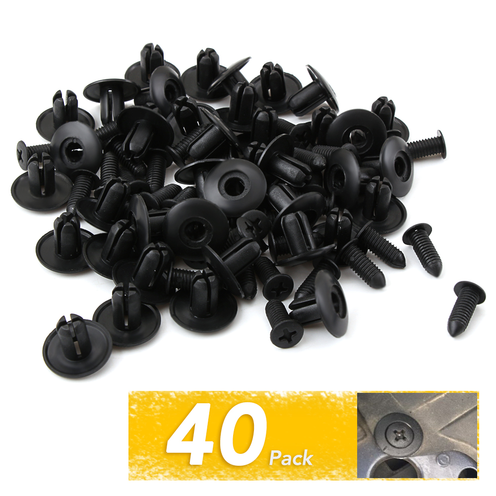 Ricoy 210Pcs Door Panel Trim Clips Automotive Bumper Panel Fender Clips Fasteners Retainer With Removel Tool