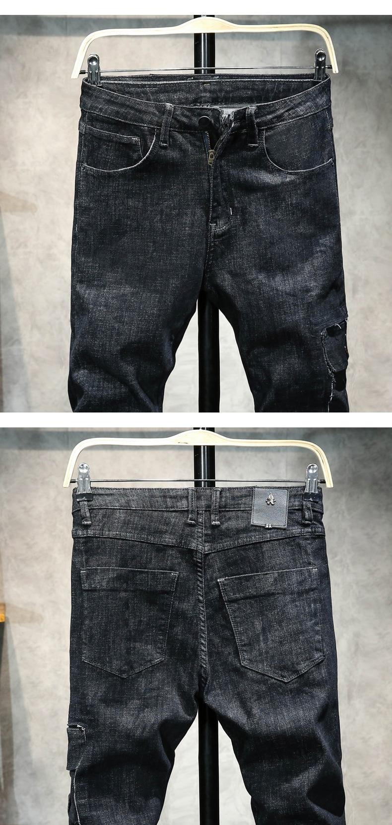 KSTUN Men's Jeans Fashion Brand 2018 Winter Black Pants Slim Skinny Tapered Male Moto Biker Jeans