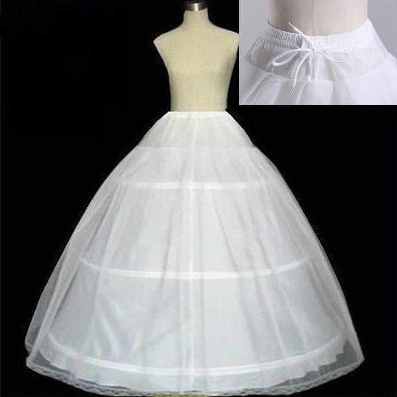 Бесплатная доставка, Высококачественная Белая 3 Нижняя юбка с кринолином кринолиновый подъюбник, Нижняя юбка для свадебного платья, свадебное платье в наличии 2018