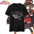 Nova Kono Subarashii Sekai de Shukufuku wo Megumin de Anime homens camiseta de algodão de manga curta t-shirt tops