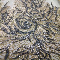 African Rhinestones Lace Fabric French 2017 Renda For Wedding Embroidery African Cotton Fabric 5 Yard Lot