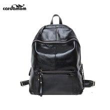 Кардамон реальная мягкая натуральная кожа женщины рюкзак женщина Сумка женская на ноутбук сумка Ежедневно Рюкзак девушка школы