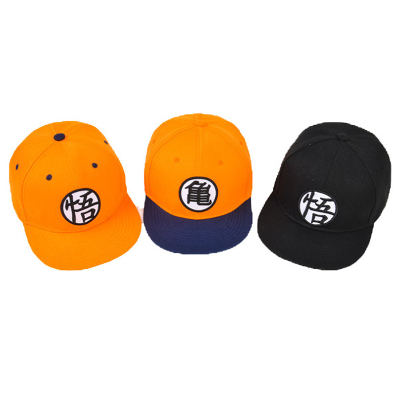 Dragon ball Goku Hat Cosplay High Quality Dragon ball Z Snapback Flat Hip Hop Caps Toy Birthday Gift For Kids fashion baseball caps women hip hop cap floral summer embroidery spring adjustable hat flower ladies girl snapback cap gorras
