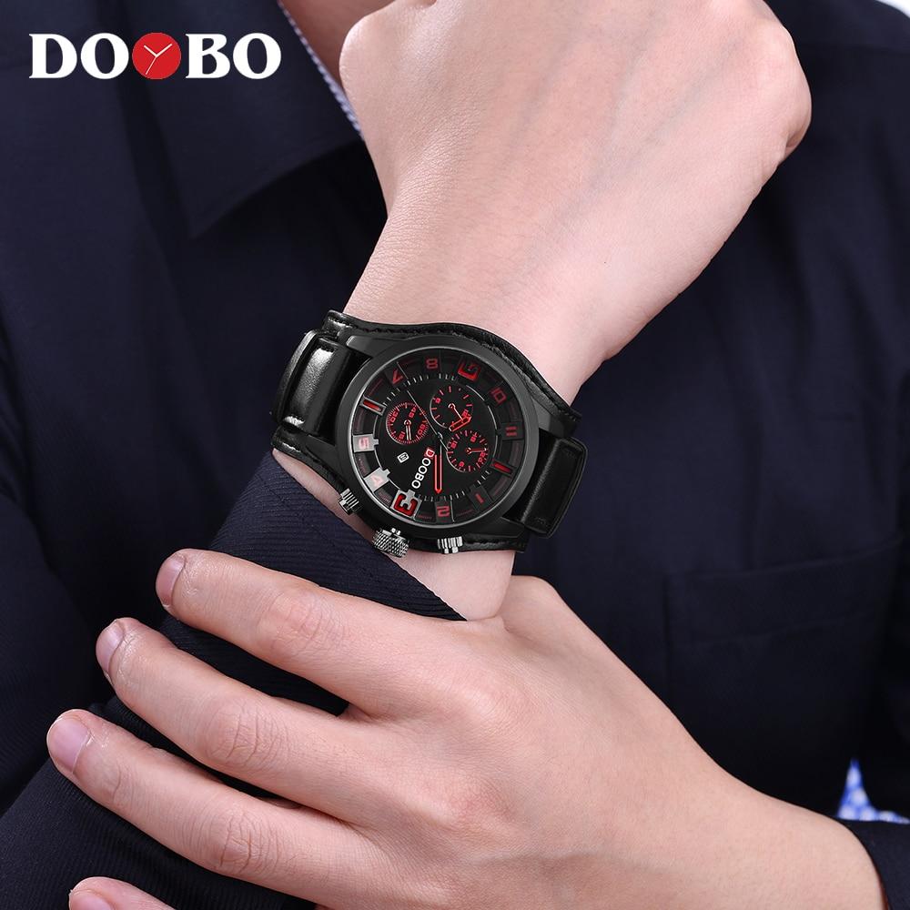 Heren Horloges Topmerk Luxe DOOBO Herenhorloge Lederen Band Mode - Herenhorloges - Foto 2