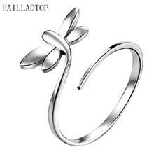 Милые кольца в форме животного со стрекозой инкрустированные