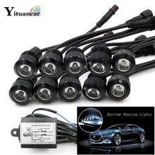 ФОТО high power 10pcs/set led car styling eagle eyes daytime running light external fog lamp relay harness on/off with controller