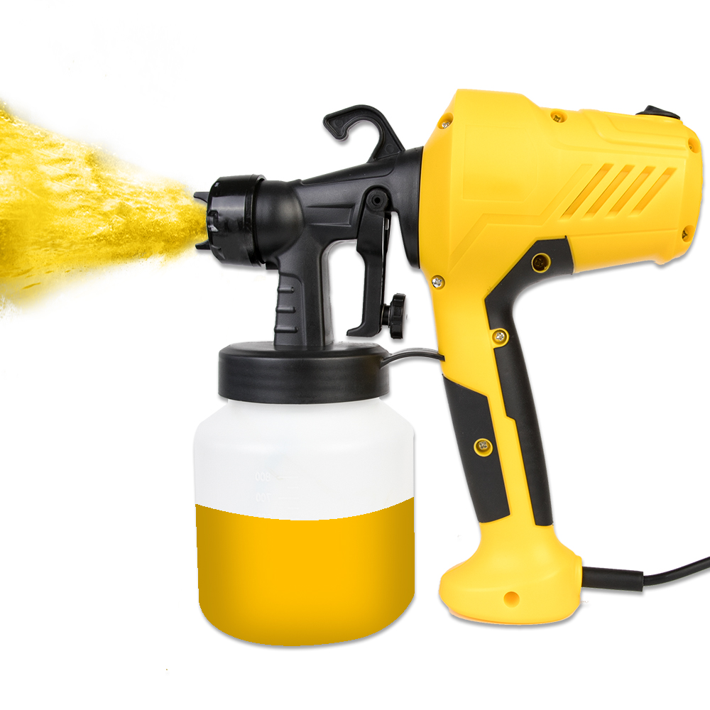 Image 2 - 800ML 2.5MM Nozzle Handheld Spray Gun Paint Sprayers Power Paint Gun For Clean Up Spray Pesticide Flow Control Electric Airbrush-in Spray Guns from Tools on