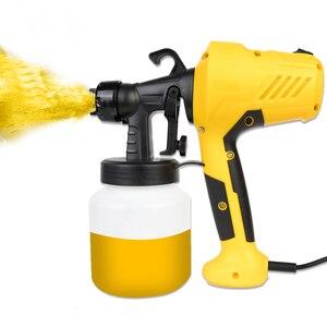 Image 2 - Boquilla de 800ML y 2,5 MM, PISTOLA DE PULVERIZACIÓN manual, pulverizadores de pintura potente para limpiar espray, pesticida, Control de flujo, aerógrafo eléctrico