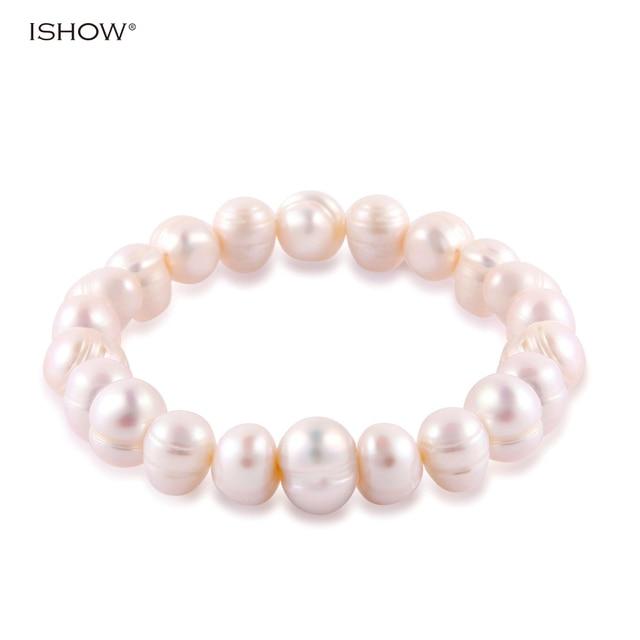 Baroque Freshwater Pearl Bracelet Women Elastic Rope Charm Bracelets Bangles Women Fashion Jewelry Pulseras Mujer Perlas