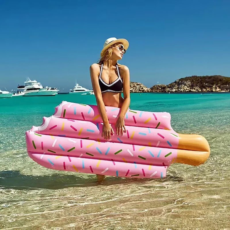 196 cm Popsicles Giant Inflatable Float Air Mattress Summer Fun Hawaii Pool Beach Party Kids Adult Float Toy Decoration Supplies