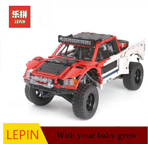 Lepin 23013 RC Truck New Technic Large Blocks of Remote Control Control Off-Road Vehicle Car Set Model Building Blocks Kids Toys building rc car off road vehicle building toy bricks technic remote control toys for boys model car kids fun toy gift children