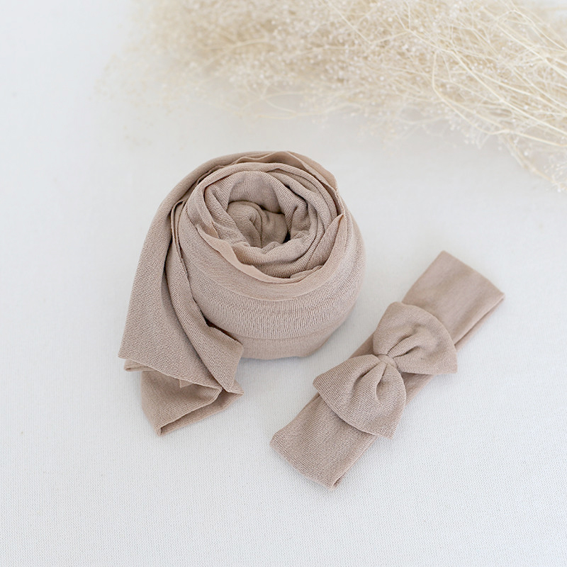 Newborn Stretch Jersey wrap Baby soft swaddle blanket photo props Baby photography wrap Layer fabric