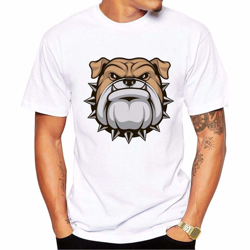 Men 2018 Brand Clothing Tees Casual Male Designing T Shirt Big Bad Bulldog Moody Bad Boy Funny Joke Men Tee Shirt