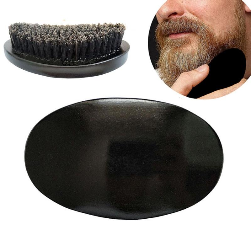 High-Grade Brush Men's Shaving Brush Boar Bristle Natural Wood Black Beard Brush Big Size