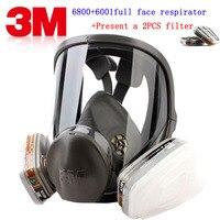 М 3 м 6001 + 6800 респиратор противогаз Защита бренда м 3 м Респиратор маска против органического газа Паровая живопись пестицидная противогаз