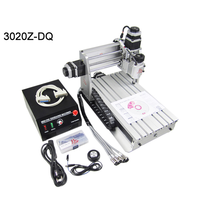 DIY cnc router 3020Z-DQ engraving machine ER11 230W Ball screw 3axis for wood pcb pvc etc