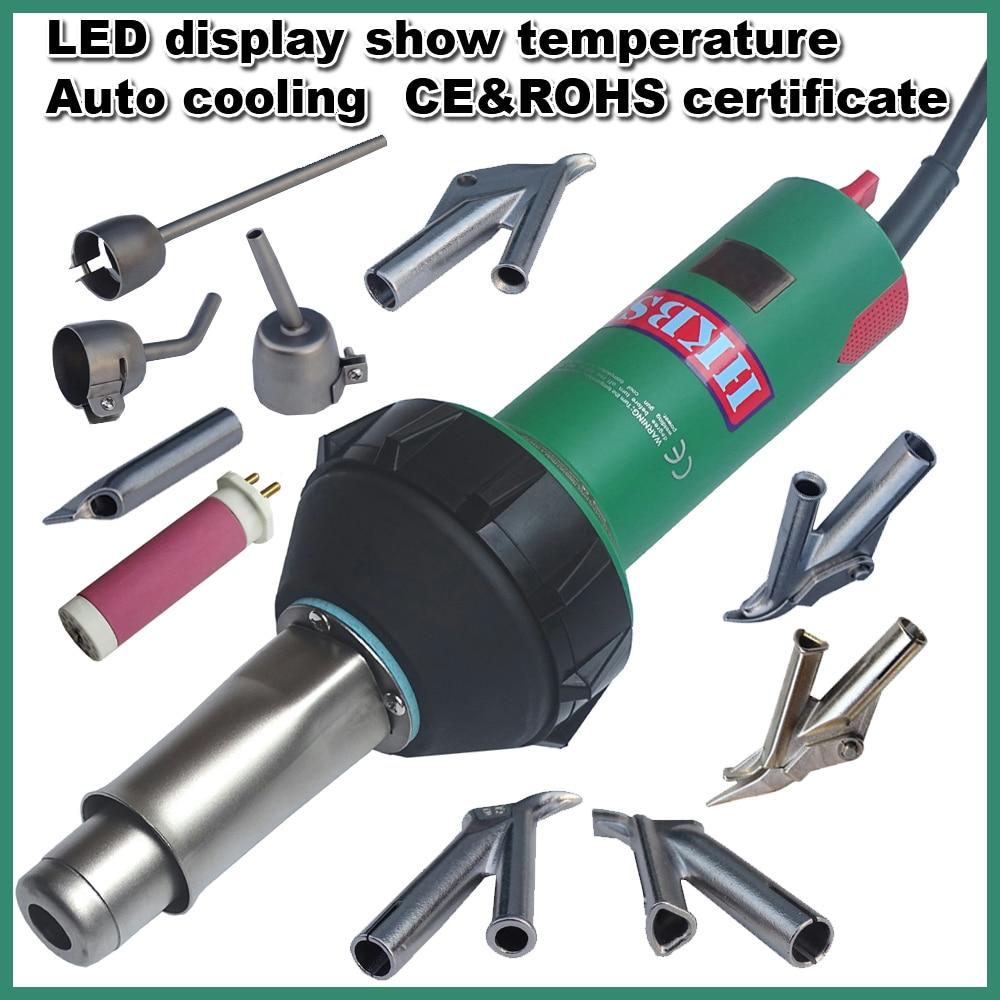 HKBST meleg levegős műanyag hegesztőpisztoly LED-del, - Hegesztő felszerelések - Fénykép 2