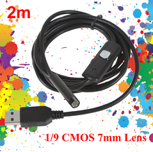 New! ePathChina 7MM 2M Focus Camera Lens USB Cable Waterproof 6 LED Endoscope 1/9″ CMOS Mini USB Endoscope Inspection Camera