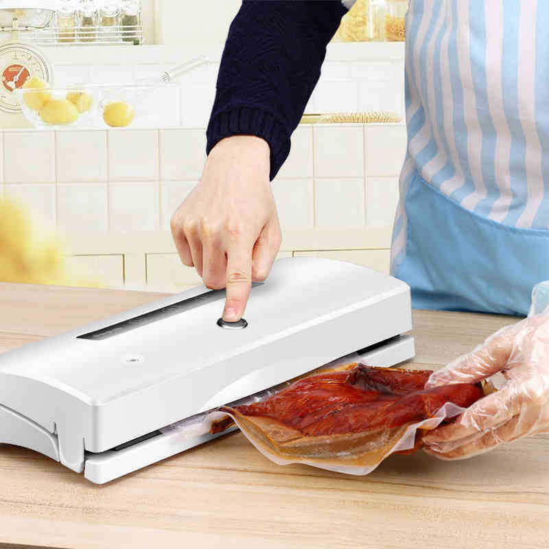 100V-240V Househol Vacuum sealer, Food vacuum sealing machine, aluminum bags vacuum packer, Packing machine jiqi food vacuum sealer automatic vacuum wet and dry sealing packer electric plastic packing machine fruits saver with free bags