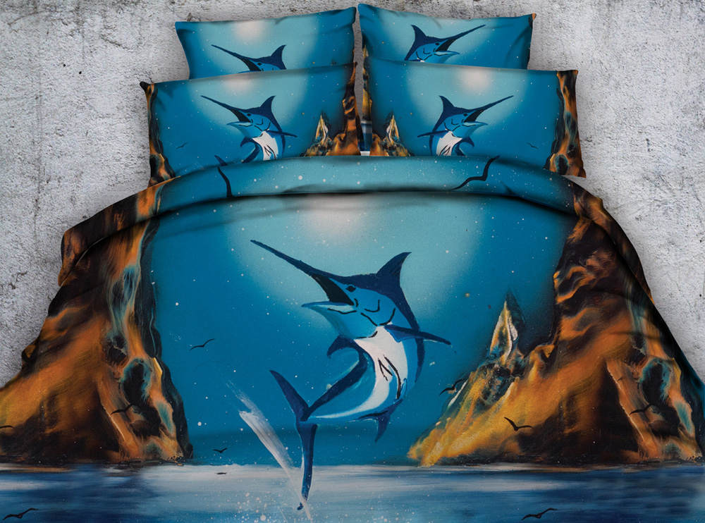 3d printed comforter bedding set quilt/duvet covers bedspreads twin full queen king size 500TC woven tuna fish canyon ocean blue3d printed comforter bedding set quilt/duvet covers bedspreads twin full queen king size 500TC woven tuna fish canyon ocean blue