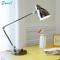 Artpad Fashion Designer Desk Lamp Modern Business Lamp Iron Shades Flexible Swing Long Arm Table Lamps Study Office Work Lamps