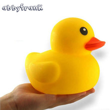 Abbyfrank Rubber Ducks Baby Bath Toys Big Yellow Duck Floating Swimming Pool Water Toy Cute Gift Rubber Race Squeaky Animal Set(China)