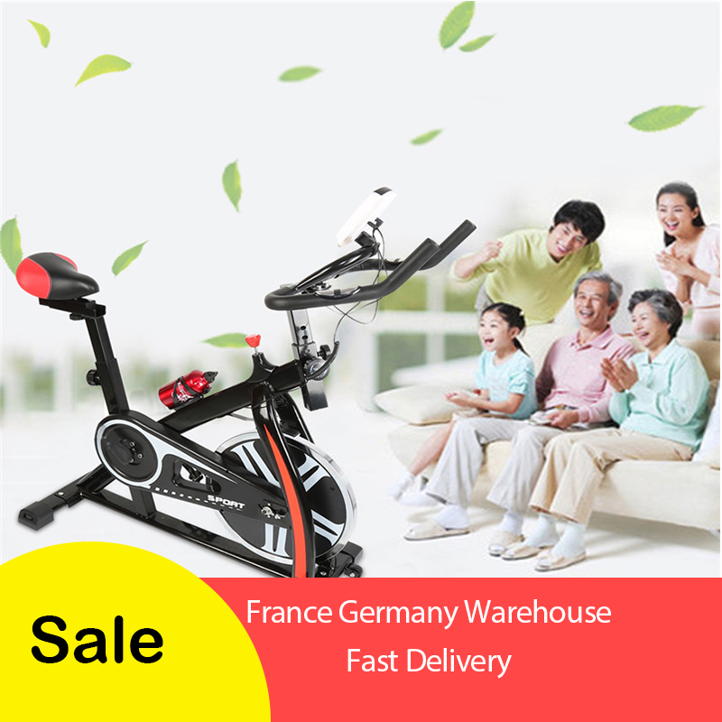 Home spinning bike Ultra-quiet exercise bike Indoor exercise bike Bicycle fitness equipment screw shift adjustment 1pc HWC
