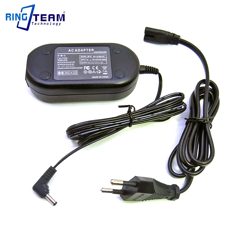 Power AC Adapter CA-570 CA570 CA570K for Canon Digital Camera XC10 ZR60 ZR65MC ZR70MC ZR80 ZR85 ZR90 ZR100 ZR200 ZR300 ZR400Power AC Adapter CA-570 CA570 CA570K for Canon Digital Camera XC10 ZR60 ZR65MC ZR70MC ZR80 ZR85 ZR90 ZR100 ZR200 ZR300 ZR400
